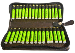 Set of 30 remedies for plant homeopathy in brown artificial leather case (Kaviraj)
